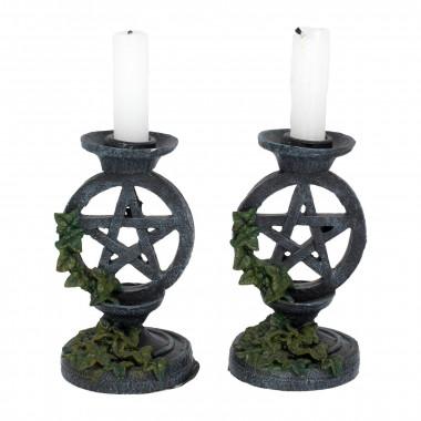 Aged Pentagram Candlesticks...