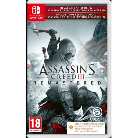 Assassin's Creed III Remaster (Code-in-a-box) (Switch)